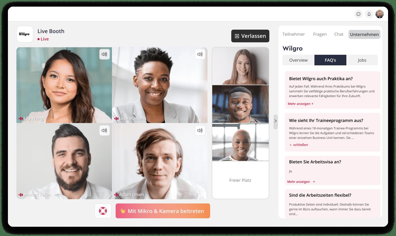 Create an interactive virtual or hybrid experience