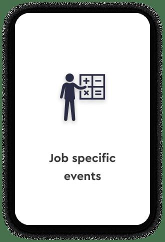 Job specific school career fairs talentspace use case