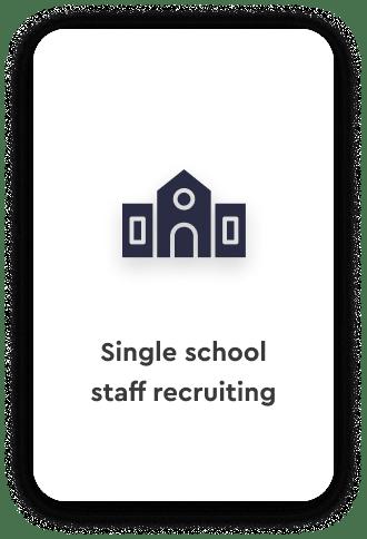 Single school staff recruiting talentspace use case